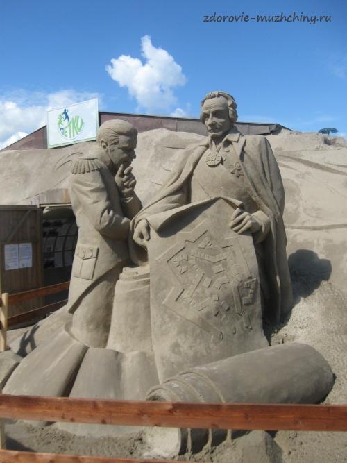Песчаная скульптура Суворова А.В.