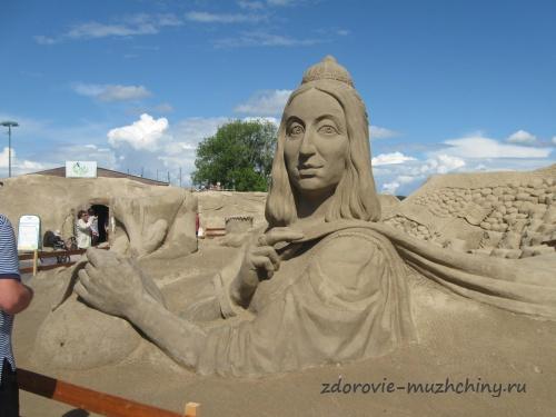 Песчаная скульптура в Лаппеенранте