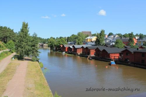 Река Порвоо и прибрежные амбары